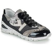 Scarpe Bambina Sneakers basse Ikks FIONA Nero / Argento