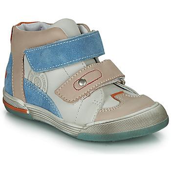 Scarpe Bambino Sneakers alte GBB PATRICK Grigio / Blu