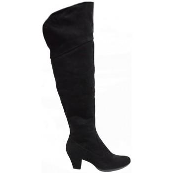 Scarpe Donna Stivali Bata Donna Stivale In Camoscio Con Tacco In Colore Nero Nero