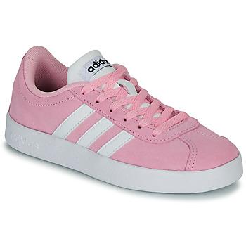 Scarpe Unisex bambino Sneakers basse adidas Originals VL COURT K ROSE Rosa