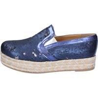 Scarpe Donna Espadrillas Olga Rubini slip on blu tessuto paillettes BS110 blu