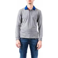 Abbigliamento Uomo Polo maniche lunghe Sun68 A28107 34 GRI MED Polo Uomo Uomo Grigio Medio Grigio Medio