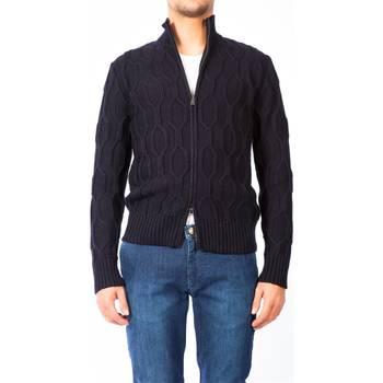 Abbigliamento Uomo Gilet / Cardigan Moreno Martinelli 548085A 03 BLU Maglia Uomo Uomo Blu Blu