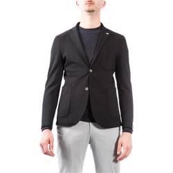 Abbigliamento Uomo Giacche / Blazer Barbati GI-MARTIN 942 NER Giacca Uomo Uomo Nero Nero