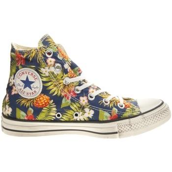 Scarpe Donna Sneakers alte Converse All Star HI Print                           blu