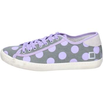 Scarpe Donna Sneakers basse Date sneakers grigio tessuto viola ap561 grigio