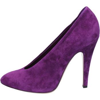 Scarpe Donna Décolleté Casadei decolte viola camoscio az383 viola