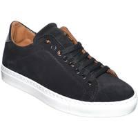 Scarpe Uomo Sneakers basse Made In Italia Sneaker bassa uomo in vera pelle scamosciata e liscia nera inte NERO