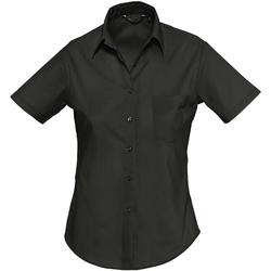 Abbigliamento Donna Camicie Sols ESCAPE POPELIN WOMEN Negro