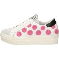 Scarpe Donna Sneakers basse Meline UG 214 Bianco Rosa