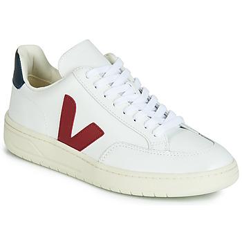 Scarpe Sneakers basse Veja V-12 LEATHER Bianco / Blu / Rosso