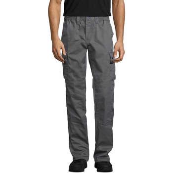 Abbigliamento Pantalone Cargo Sols ACTIVE PRO WORKS Gris