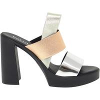 Scarpe Donna Sandali Pollini Sandalo con tacco argento,beige,multicolore