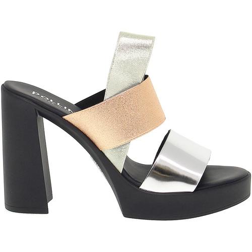 Scarpe Donna Sandali Pollini Sandalo con tacco argento 1c40d6294b2