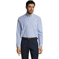 Abbigliamento Uomo Camicie maniche lunghe Sols BOSTON STYLE OXFORD Azul