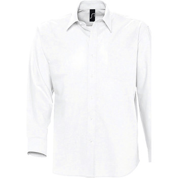 Abbigliamento Uomo Camicie maniche lunghe Sols BOSTON STYLE OXFORD Blanco