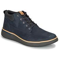 Scarpe Uomo Sneakers alte Timberland CROSS MARK PT CHUKKA Blu