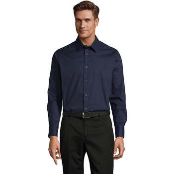 Abbigliamento Uomo Camicie maniche lunghe Sols BRIGHTON STRECH Azul