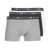 Biancheria Intima  Uomo Boxer DIM COTON STRETCH X3 Nero / Grigio / Bianco