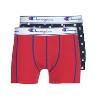 Biancheria Intima  Uomo Boxer Champion MIX UNI + IMPRIME X2 Nero / Rosso
