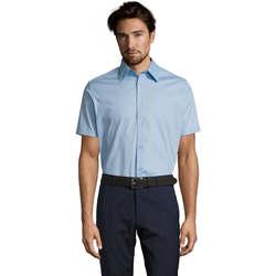 Abbigliamento Uomo Camicie maniche corte Sols BROADWAY STRECH MODERN Azul