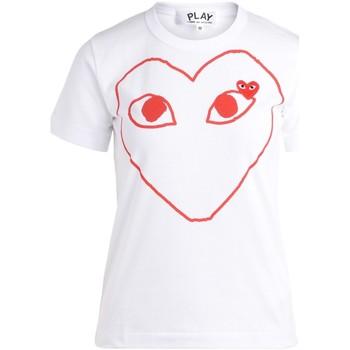 Abbigliamento Donna T-shirt maniche corte Comme Des Garcons T-Shirt  da donna bianca con cuore Bianco