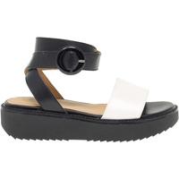 Scarpe Donna Sandali Janet Sport Sandalo basso  in pelle bianco,multicolore,nero