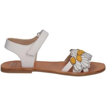 Scarpe Bambina Sandali Manuela De Juan S2545 IKIA WHITE SET Sandalo Bambina Bianco Bianco