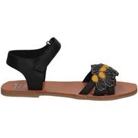 Scarpe Bambina Sandali Manuela De Juan S2545 IKIA BLACK SET Sandalo Bambina Nero Nero