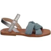 Scarpe Bambina Sandali Manuela De Juan S2541 GAIA BLUE Sandalo Bambina Blu Blu