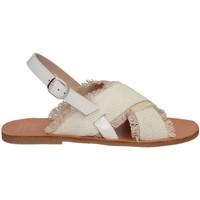 Scarpe Bambina Sandali Manuela De Juan S2539 ANYA WHITE Sandalo Bambina Bianco Bianco