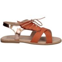 Scarpe Bambina Sandali Manuela De Juan S2535 AILEN PEACH Sandalo Bambina Arancio Arancio