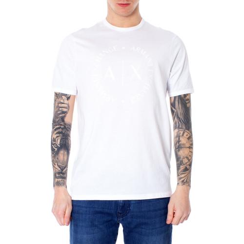 bbd3675fcb02f Abbigliamento Uomo T-shirt maniche corte Armani Exchange 8NZTCD Z8H4Z Bianco