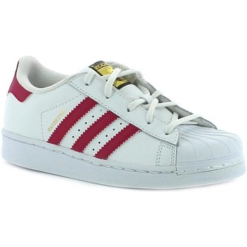 Scarpe Bambina Sneakers basse adidas Originals SUPERSTAR FOUNDATION C BIANCHE Bianco
