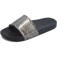 Scarpe Donna ciabatte Zaxy tte donna  Snap Glitter Slide gomma glitterata argento nero Glitter Black
