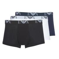 Biancheria Intima  Uomo Boxer Emporio Armani CC715-111357-56110 Bianco / Nero / Marine