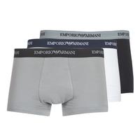Biancheria Intima  Uomo Boxer Emporio Armani CC717-111357-02910 Bianco / Nero / Grigio