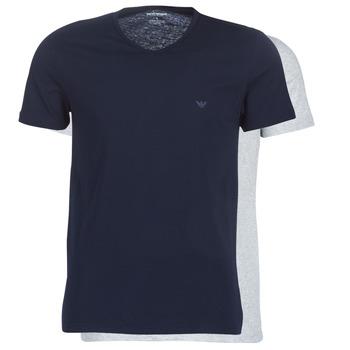 Abbigliamento Uomo T-shirt maniche corte Emporio Armani CC722-111648-15935 Marine / Grigio