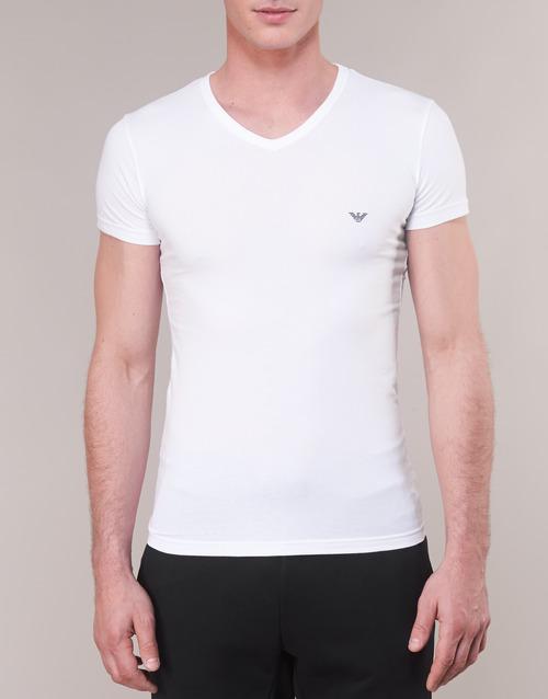 Maniche Armani Cc735 110810 00010 Abbigliamento Consegna Gratuita Bianco T Uomo Corte Emporio shirt 4300 7yIYgbf6v