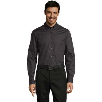 Abbigliamento Uomo Camicie maniche lunghe Sols BUSSINES MODERN MEN Gris