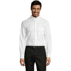 Abbigliamento Uomo Camicie maniche lunghe Sols BUSSINES MODERN MEN Blanco