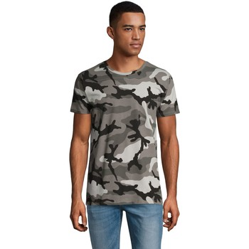 Abbigliamento Uomo T-shirt maniche corte Sols CAMOUFLAGE DESIGN MEN Gris