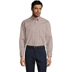 Abbigliamento Uomo Camicie maniche lunghe Sols BEL-AIR TWILL MEN Beige