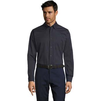 Abbigliamento Uomo Camicie maniche lunghe Sols BEL-AIR TWILL MEN Azul