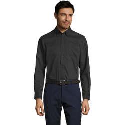 Abbigliamento Uomo Camicie maniche lunghe Sols BEL-AIR TWILL MEN Negro