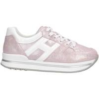 Scarpe Bambina Sneakers basse Hogan HXC2220T548KIW394E Sneakers Bambina Rosa Rosa