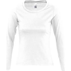 Abbigliamento Donna T-shirts a maniche lunghe Sols MAJESTIC COLORS GIRL Blanco