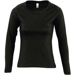 Abbigliamento Donna T-shirts a maniche lunghe Sols MAJESTIC COLORS GIRL Negro