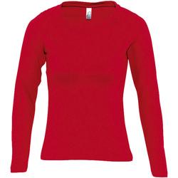Abbigliamento Donna T-shirts a maniche lunghe Sols MAJESTIC COLORS GIRL Rojo