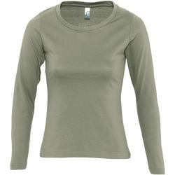Abbigliamento Donna T-shirts a maniche lunghe Sols MAJESTIC COLORS GIRL Verde